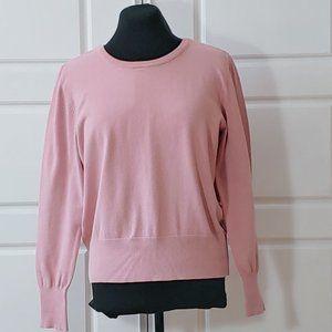 💰3/20$💰H&M Pink crew neck balloon sleeve sweater